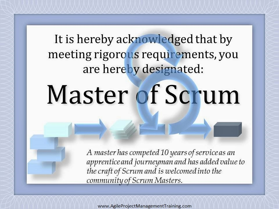 "Why Scrum ""Master""? What about Scrum Apprentice? Maybe we need a Scrum Jedi?"
